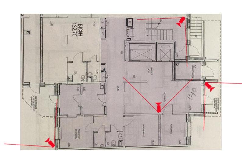 Внутренние камеры 1-этаж, 5-подъезд. 8 дом.